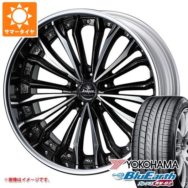 サマータイヤ 245/40R19 98W XL ヨコハマ ブルーアース RV-02 クレンツェ フェルゼン 8.5-19 タイヤホイール4本セット