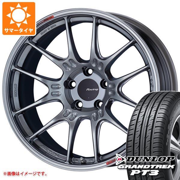 サマータイヤ 235/60R18 107V XL ダンロップ グラントレック PT3 エンケイ レーシング GTC02 8.0-18 タイヤホイール4本セット
