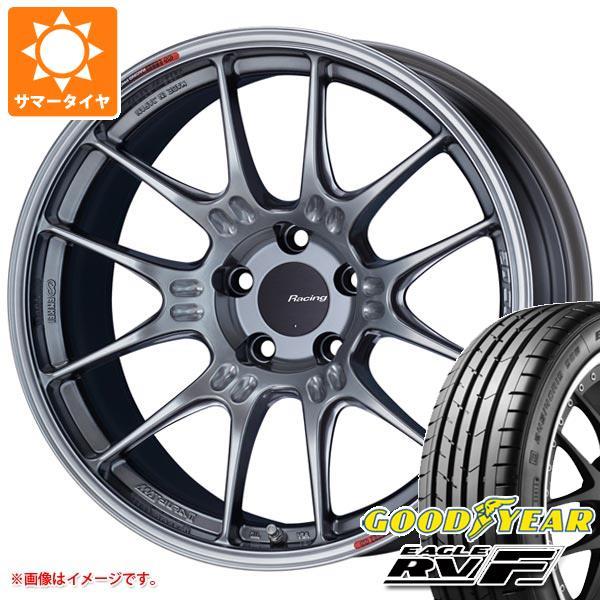 サマータイヤ 215/45R18 93W XL グッドイヤー イーグル RV-F ENKEI エンケイ レーシング GTC02 7.5-18 タイヤホイール4本セット