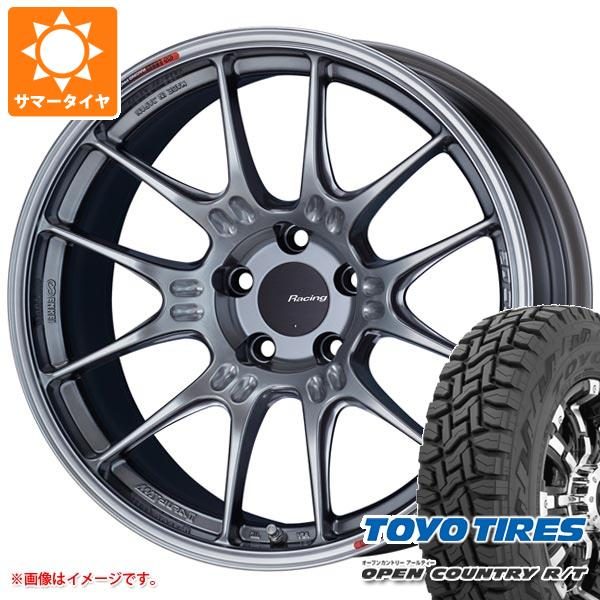サマータイヤ 225/55R18 98Q トーヨー オープンカントリー R/T ブラックレター ENKEI エンケイ レーシング GTC02 7.5-18 タイヤホイール4本セット