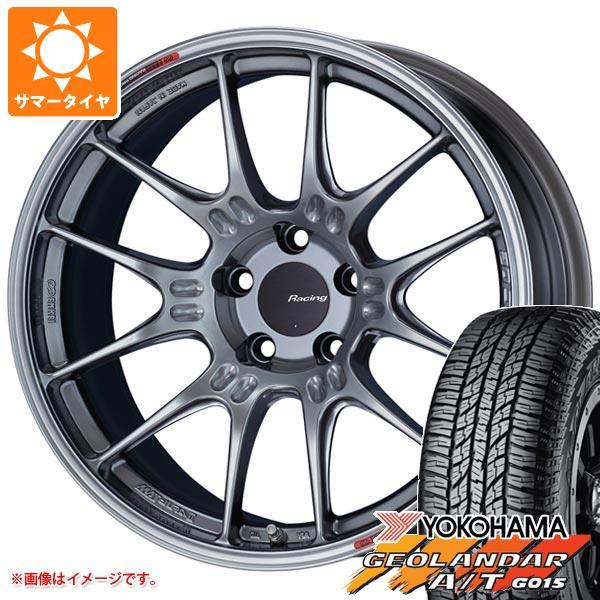 サマータイヤ 235/55R18 104H XL ヨコハマ ジオランダー A/T G015 ブラックレター ENKEI エンケイ レーシング GTC02 8.0-18 タイヤホイール4本セット