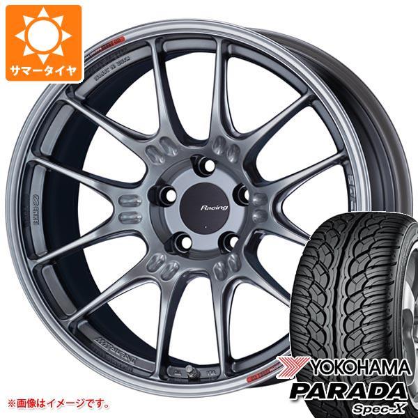 サマータイヤ 235/55R18 100V ヨコハマ パラダ スペック-X PA02 ENKEI エンケイ レーシング GTC02 8.0-18 タイヤホイール4本セット