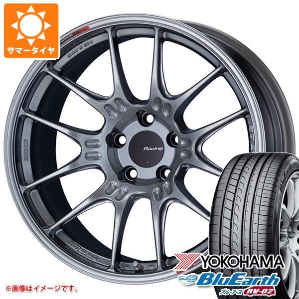 2020年製 サマータイヤ 225/50R18 95V ヨコハマ ブルーアース RV-02 ENKEI エンケイ レーシング GTC02 7.5-18 タイヤホイール4本セット