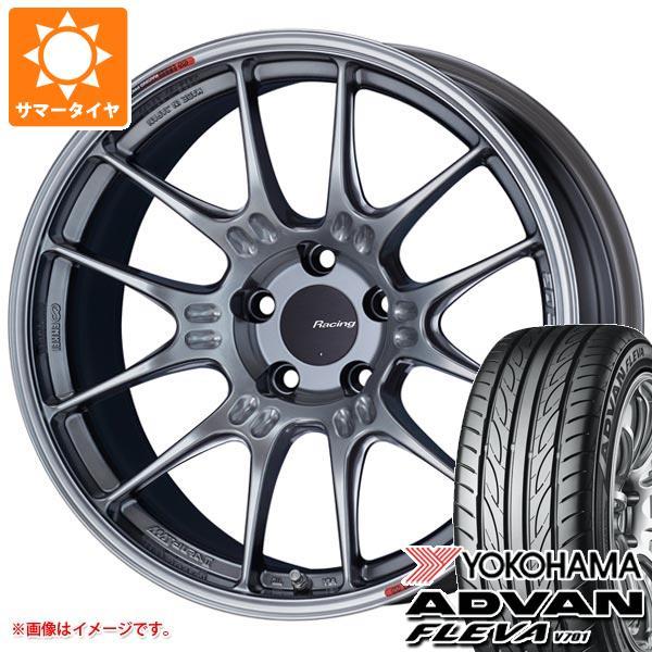 サマータイヤ 225/45R19 96W XL ヨコハマ アドバン フレバ V701 ENKEI エンケイ レーシング GTC02 8.0-19 タイヤホイール4本セット