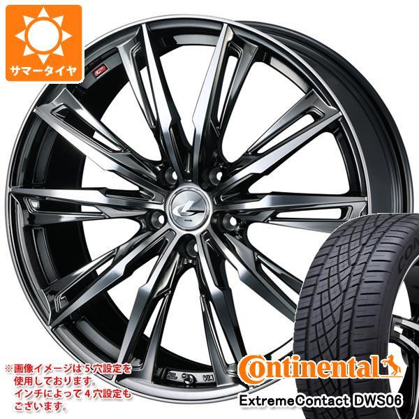 正規品 サマータイヤ 245/50R18 100W コンチネンタル エクストリームコンタクト DWS06 レオニス GX BMCミラーカット 8.0-18 タイヤホイール4本セット