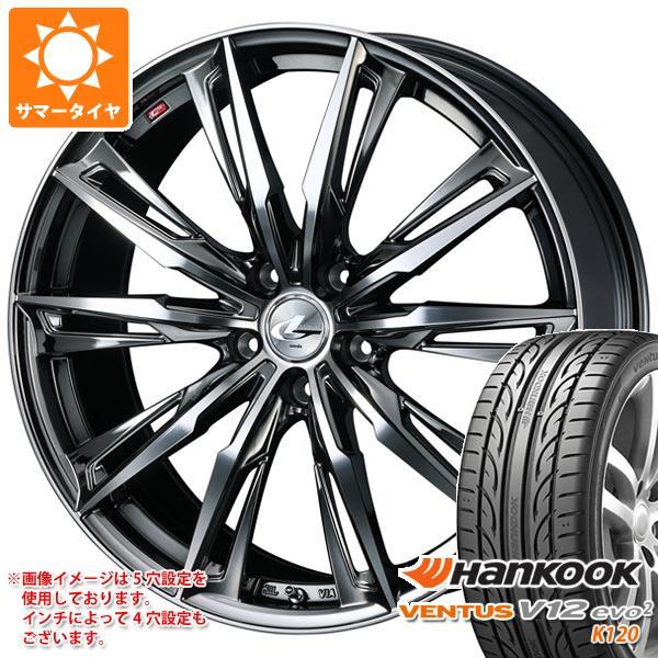 サマータイヤ 245/40R20 99Y XL ハンコック ベンタス V12evo2 K120 レオニス GX BMCミラーカット 8.5-20 タイヤホイール4本セット