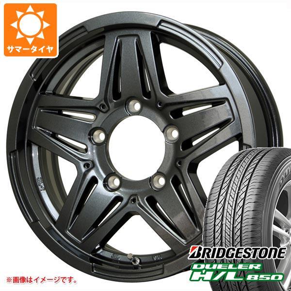 ジムニーシエラ専用 サマータイヤ ブリヂストン デューラー H/L850 215/70R16 100H マッドクロス JB-01 ガンメタ 6.0-16 タイヤホイール4本セット