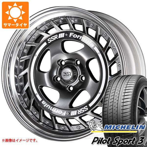 正規品 サマータイヤ 195/45R16 84V XL ミシュラン パイロットスポーツ3 SSR フォーミュラ エアロスポーク 6.5-16 タイヤホイール4本セット