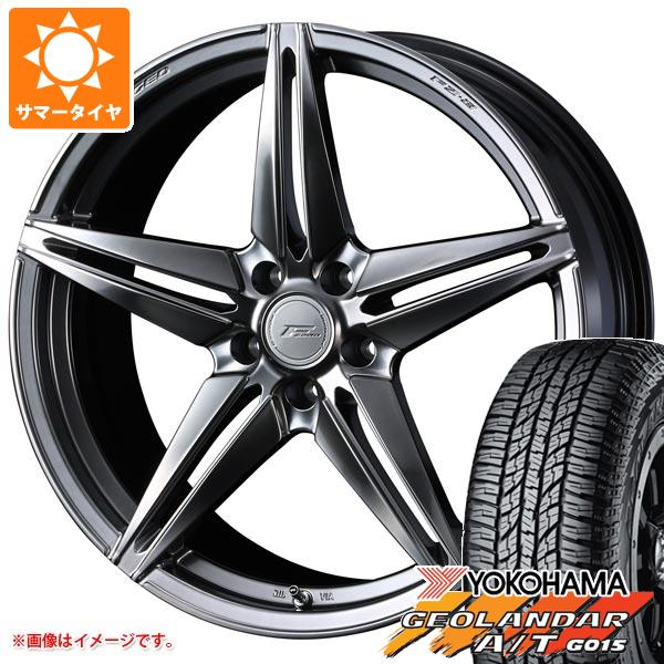 サマータイヤ 235/55R18 104H XL ヨコハマ ジオランダー A/T G015 ブラックレター F ゼロ FZ-3 8.0-18 タイヤホイール4本セット