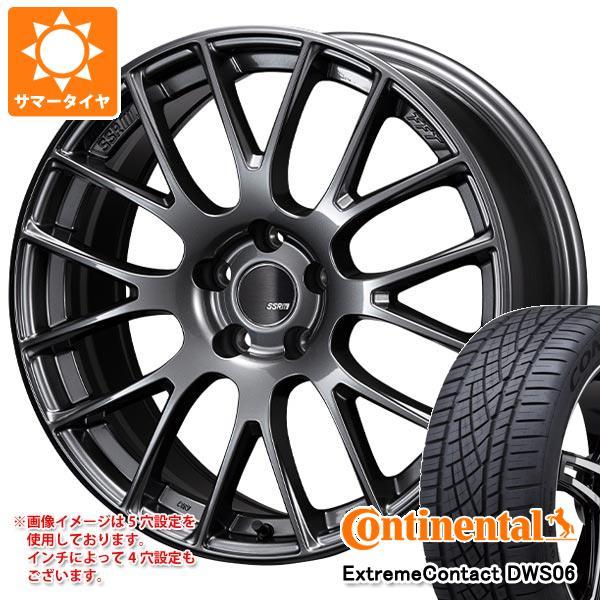 正規品 サマータイヤ 245/50R18 100W コンチネンタル エクストリームコンタクト DWS06 SSR GTV04 8.5-18 タイヤホイール4本セット