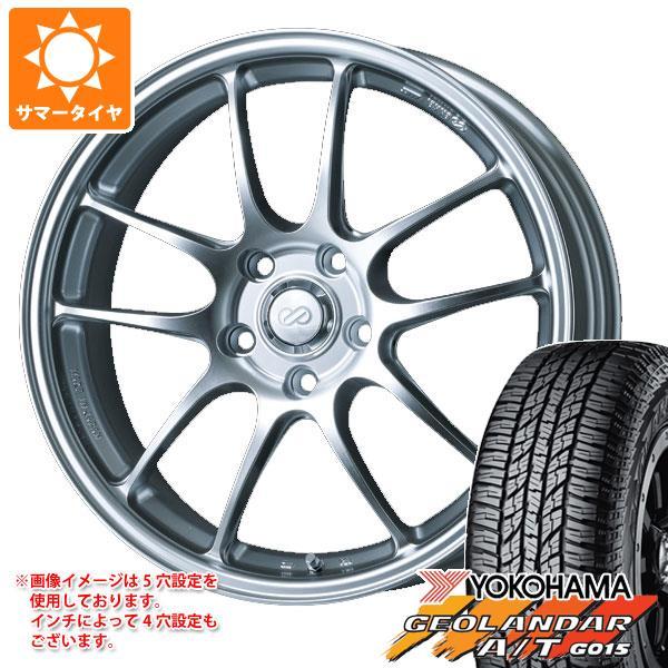 サマータイヤ 235/55R18 104H XL ヨコハマ ジオランダー A/T G015 ブラックレター ENKEI エンケイ パフォーマンスライン PF01 8.0-18 タイヤホイール4本セット