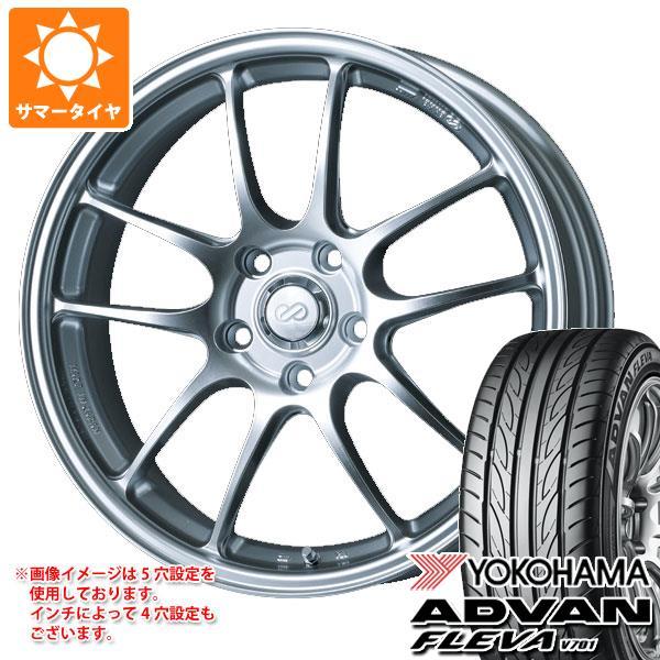 サマータイヤ 265/35R18 97W XL ヨコハマ アドバン フレバ V701 エンケイ パフォーマンスライン PF01 9.5-18 タイヤホイール4本セット