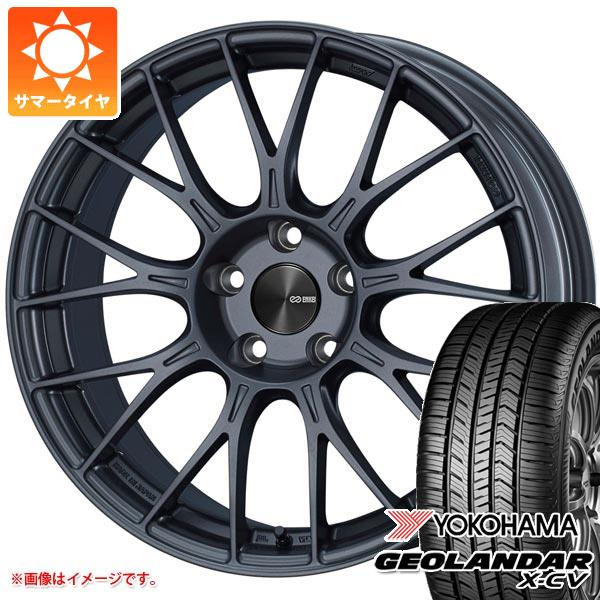 サマータイヤ 235/55R19 105W XL ヨコハマ ジオランダー X-CV G057 ENKEI エンケイ パフォーマンスライン PFM1 8.0-19 タイヤホイール4本セット