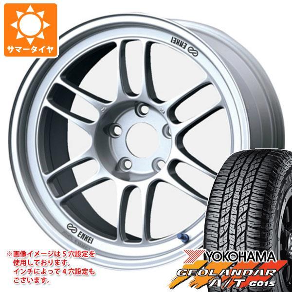 サマータイヤ 235/55R18 104H XL ヨコハマ ジオランダー A/T G015 ブラックレター ENKEI エンケイ レーシング RPF1 8.0-18 タイヤホイール4本セット