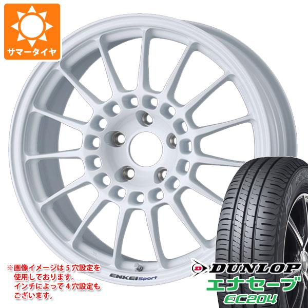 サマータイヤ 215/50R18 92V ダンロップ エナセーブ EC204 ENKEI エンケイ スポーツ RC-T5 8.0-18 タイヤホイール4本セット