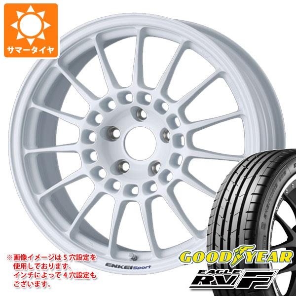 サマータイヤ 215/50R18 92V グッドイヤー イーグル RV-F ENKEI エンケイ スポーツ RC-T5 8.0-18 タイヤホイール4本セット