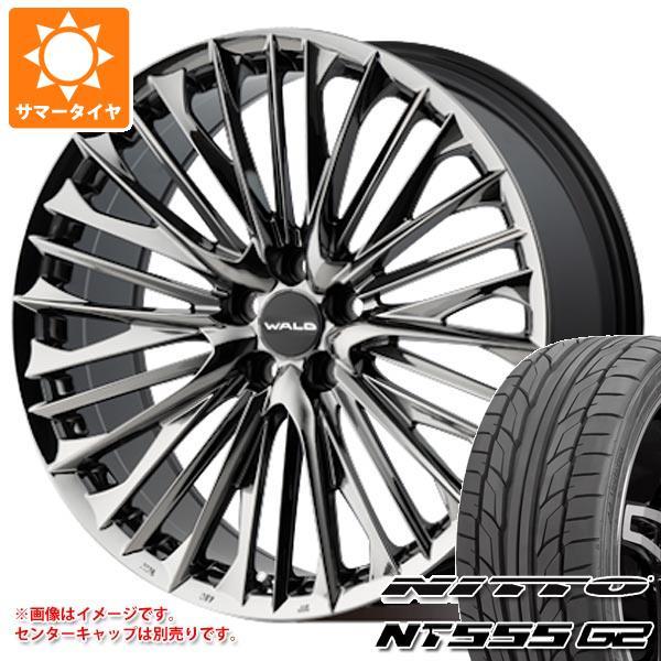 サマータイヤ 245/35R21 96Y XL ニットー NT555 G2 ヴァルド ジェニュインライン F-001 アルファード ヴェルファイア専用 9.0-21 タイヤホイール4本セット