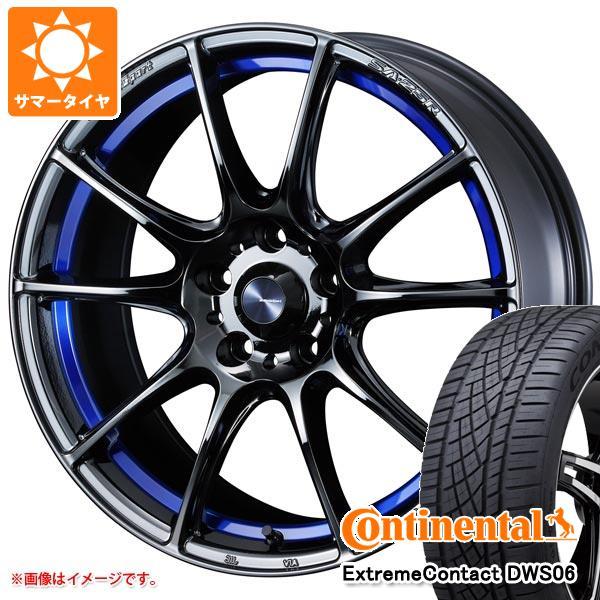 正規品 サマータイヤ 235/60R18 107W XL コンチネンタル エクストリームコンタクト DWS06 ウェッズスポーツ SA-25R 7.5-18 タイヤホイール4本セット