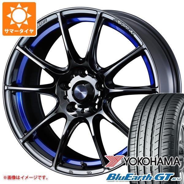 サマータイヤ 225/40R18 92W XL ヨコハマ ブルーアースGT AE51 ウェッズスポーツ SA-25R 7.0-18 タイヤホイール4本セット