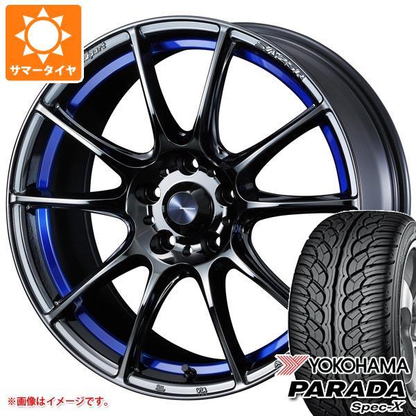 サマータイヤ 235/60R18 103V ヨコハマ パラダ スペック-X PA02 ウェッズスポーツ SA-25R 7.5-18 タイヤホイール4本セット