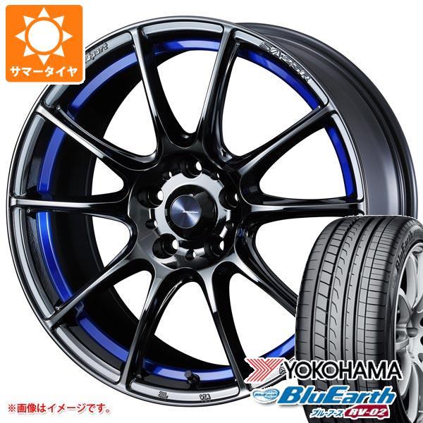 サマータイヤ 225/45R18 95W XL ヨコハマ ブルーアース RV-02 ウェッズスポーツ SA-25R 7.5-18 タイヤホイール4本セット