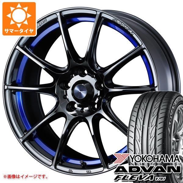 サマータイヤ 235/50R18 97V ヨコハマ アドバン フレバ V701 ウェッズスポーツ SA-25R 7.5-18 タイヤホイール4本セット