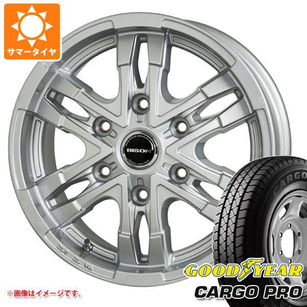 キャラバン NV350専用 サマータイヤ グッドイヤー カーゴ プロ 195/80R15 107/105L バイソン BN-03 シルバー 6.0-15 タイヤホイール4本セット
