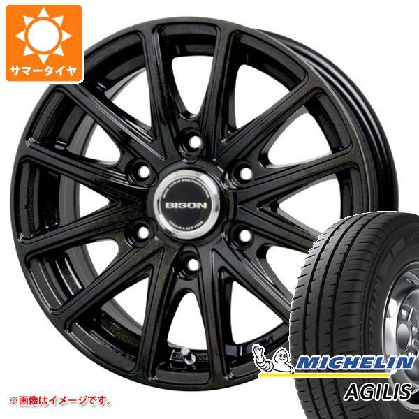 正規品 キャラバン NV350専用 サマータイヤ ミシュラン アジリス 195/80R15LT 107/105R(8PR) バイソン BN-01 ブラック 6.0-15 タイヤホイール4本セット
