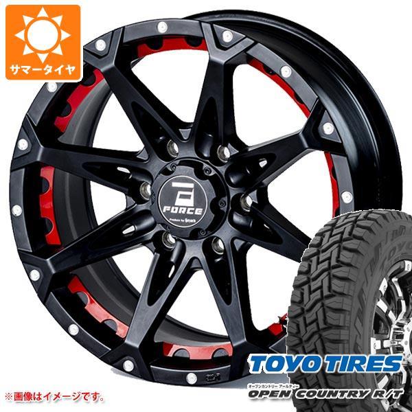 サマータイヤ 265/60R18 110Q トーヨー オープンカントリー R/T ブラックレター フォース デナリ 8.0-18 タイヤホイール4本セット