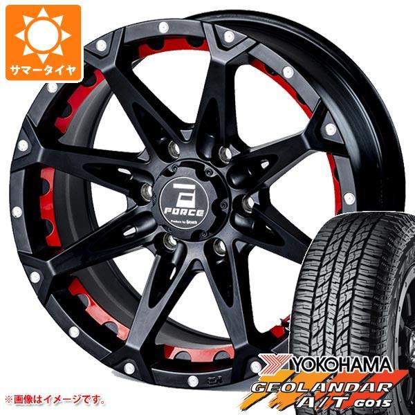 サマータイヤ 265/70R17 113T ヨコハマ ジオランダー A/T G015 アウトラインホワイトレター フォース デナリ 8.0-17 タイヤホイール4本セット