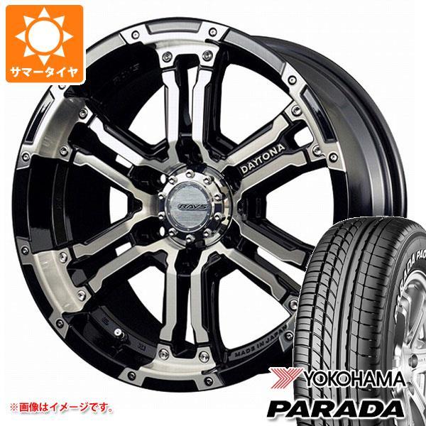 NV350キャラバン E26専用 サマータイヤ ヨコハマ パラダ PA03 215/60R17C 109/107S ホワイトレター レイズ デイトナ FDX 6.5-17 タイヤホイール4本セット