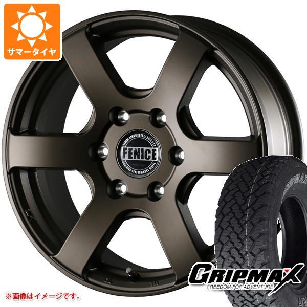 ハイエース 200系専用 サマータイヤ グリップマックス グリップマックス A/T 215/70R16 100T アウトラインホワイトレター ドゥオール フェニーチェ クロス XC6 MBR 7.0-16 タイヤホイール4本セット