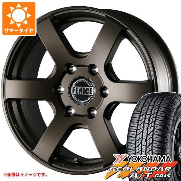 ハイエース 200系専用 サマータイヤ ヨコハマ ジオランダー A/T G015 215/70R16 100H ブラックレター ドゥオール フェニーチェ クロス XC6 MBR 7.0-16 タイヤホイール4本セット