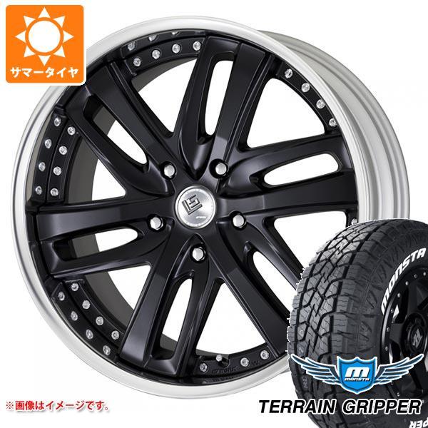 ランドクルーザー 200系専用 サマータイヤ モンスタ テレーングリッパー 285/50R20 116H XL ホワイトレター LS ブライトリング SUV 9.0-20 タイヤホイール4本セット