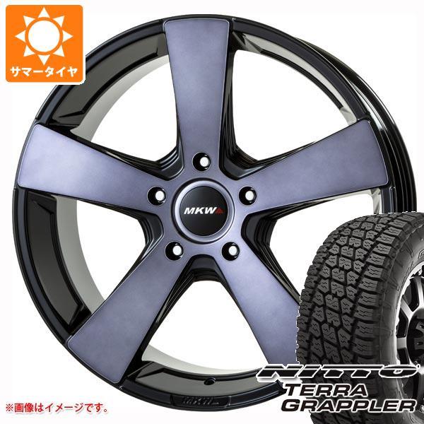 ランドクルーザー 200系専用 サマータイヤ ニットー テラグラップラー 285/45R22 114S XL MK-007 グラファイトクリア 9.0-22 タイヤホイール4本セット