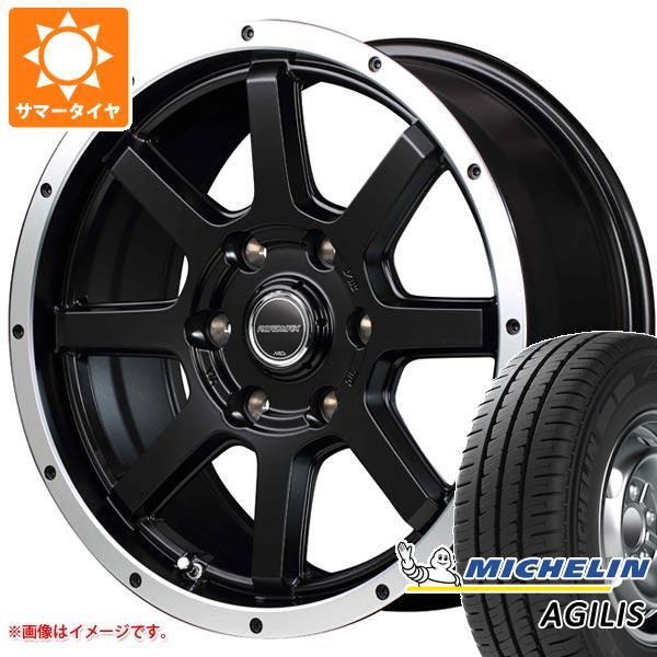 正規品 ハイエース 200系専用 サマータイヤ ミシュラン アジリス 195/80R15LT 107/105R(8PR) ロードマックス WF-8 6.0-15 タイヤホイール4本セット
