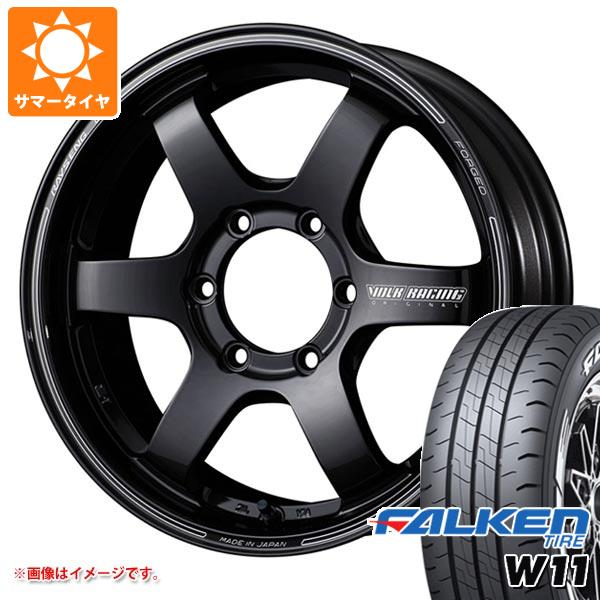ハイエース 200系専用 サマータイヤ ファルケン W11 215/60R17C 109/107N ホワイトレター レイズ ボルクレーシング TE37SB 6.5-17 タイヤホイール4本セット