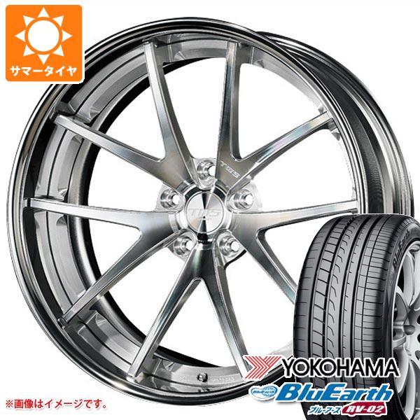サマータイヤ 245/45R19 98W ヨコハマ ブルーアース RV-02 TWS ライツェント WS05 8.5-19 タイヤホイール4本セット