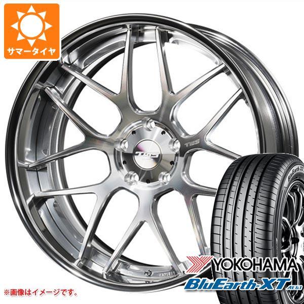 サマータイヤ 225/55R19 99V ヨコハマ ブルーアースXT AE61 2020年4月発売サイズ TWS ライツェント WX07 8.0-19 タイヤホイール4本セット