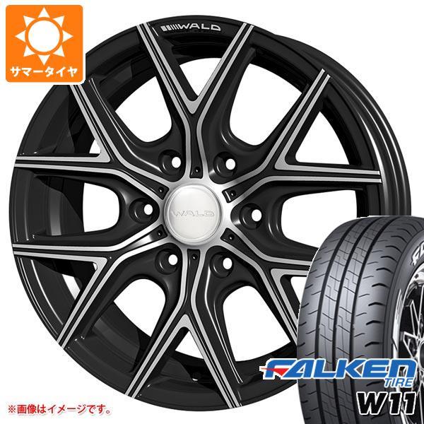 ハイエース 200系専用 サマータイヤ ファルケン W11 215/60R17C 109/107N ホワイトレター ヴァルド イリマ I11-C 6.5-17 タイヤホイール4本セット