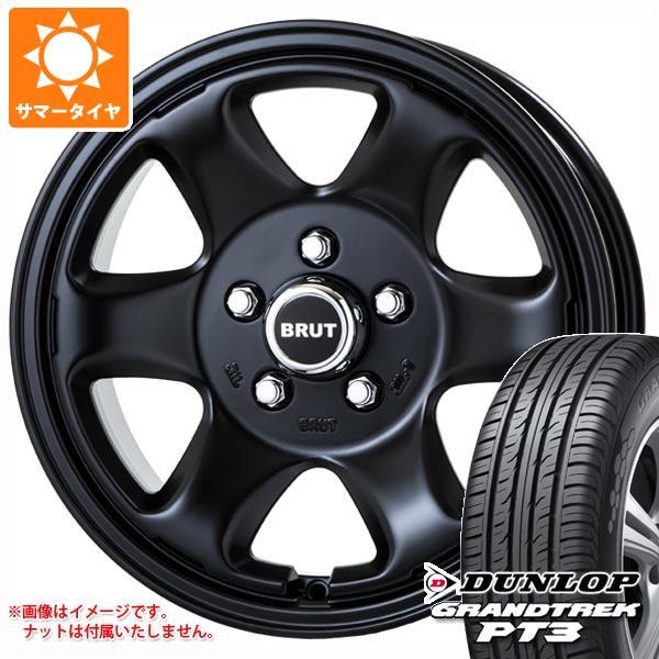 サマータイヤ 215/70R16 100H ダンロップ グラントレック PT3 ブルート BR-44 MB デリカD:5用 6.5-16 タイヤホイール4本セット