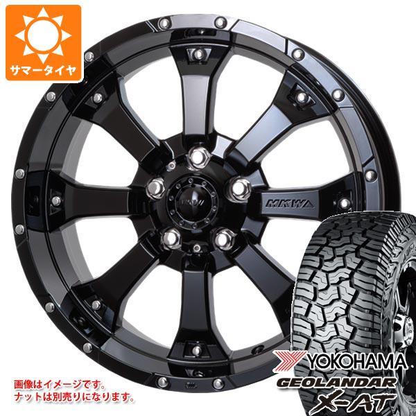 ジープ ラングラー JK/JL系用 サマータイヤ ヨコハマ ジオランダー X-AT G016 35x12.50R17 LT 121Q MK-46 GB タイヤホイール4本セット