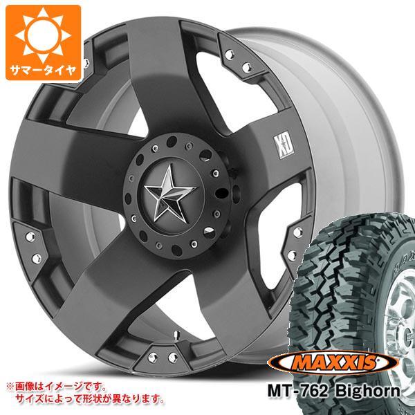 ジープ ラングラー JK/JL系用 サマータイヤ マキシス MT-762 ビッグホーン 35x12.50R17LT 119Q 8PR アウトラインホワイトレター KMC XD775 ロックスター タイヤホイール4本セット