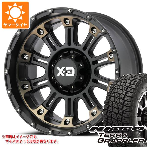 ジープ ラングラー JK/JL系用 サマータイヤ ニットー テラグラップラー P265/70R17 113S KMC XD829 ホス2 タイヤホイール4本セット