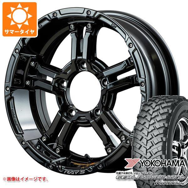 ジムニー専用 サマータイヤ ヨコハマ ジオランダー M/T+ G001J 195R16C 104/102Q レイズ デイトナ FDX-J コレクション 5.5-16 タイヤホイール4本セット