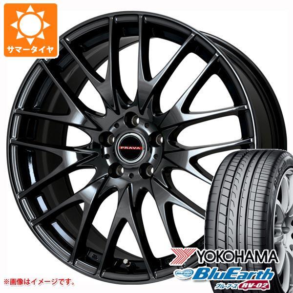 品多く 2021年製 サマータイヤ 245/45R19 98W ヨコハマ ブルーアース RV-02 レイシーン プラバ 9M 8.0-19 タイヤホイール4本セット, 石川県 17053b97