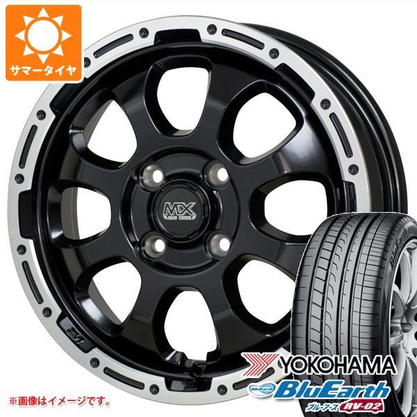 サマータイヤ 155/65R14 75H ヨコハマ ブルーアース RV-02CK マッドクロスグレイス 4.5-14 タイヤホイール4本セット