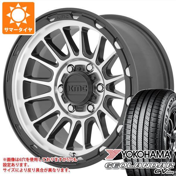 安いそれに目立つ サマータイヤ 215/70R16 100H ヨコハマ CV ジオランダー 7.0-16 100H CV G058 KMC KM542 インパクト 7.0-16 タイヤホイール4本セット, 新入荷:2de26b44 --- kventurepartners.sakura.ne.jp