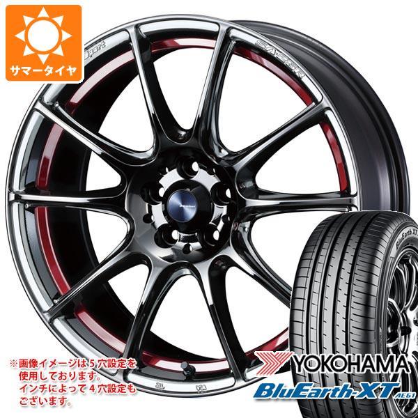 速くおよび自由な サマータイヤ 225/60R18 100H ヨコハマ ブルーアースXT AE61 100H ウェッズスポーツ 7.5-18 SA-25R ヨコハマ 7.5-18 タイヤホイール4本セット, グリーンポプリ:28024dc8 --- domains.visuallink.ca