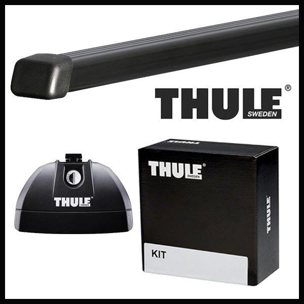 THULE スーリー メルセデス Cクラスワゴン (W205)ダイレクトルーフレール付 205系 14~ ルーフキャリア取付1台分セット TH753+TH7122+TH4055セット